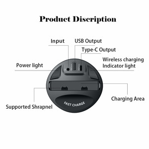 Image 3 - 696 X9 QI Car Wireless fast Charger cup for iphone Charge holder Charge Stand for Apple XS MAX/XR/X/8 PLUS for samsung note10/9