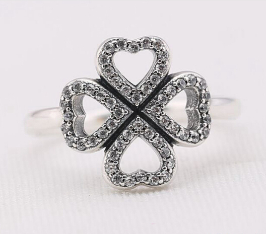 dp irish custom men rings jewelry clover ring leaf titanium four for