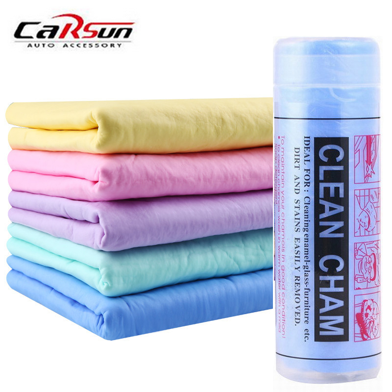 Carsun PVA 43x32x0.2cm Microfiber Car Care Wash Towel Super Absorption Cleaning Polishing Cloths Synthetic Suede Handkerchief
