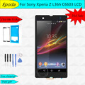 New For Sony Xperia Z L36h LCD C6606 C6603 C6602 C660x c6601 LCD Display Touch Screen Digitizer Assembly +Adhesive+tools