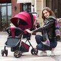 Novo Chega Portátil Carrinho De Bebê Pode Sentar Pode Mentir Alta Paisagem Peso Leve À Prova de Choque de Quatro Rodas Dobrável Fácil de carro do bebê