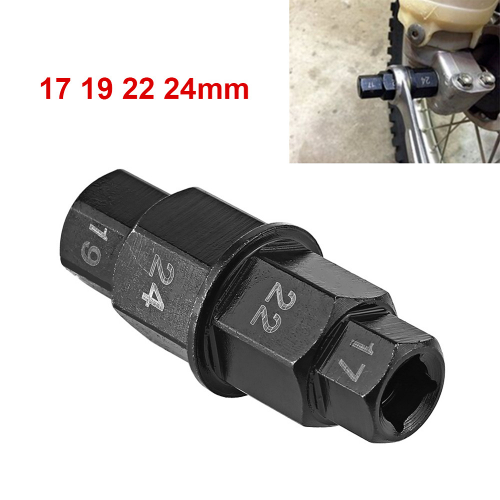 Motorcycle Front Rear Wheel Axle Hex 17 19 22 24mm Axle Hex Spindle Driver Removal Tool Motocicleta Axle Tool Car-Styling