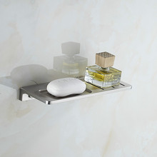 цена на Space aluminum brushed drain rack soap bar hotel with brushed optional soap holder dressing table