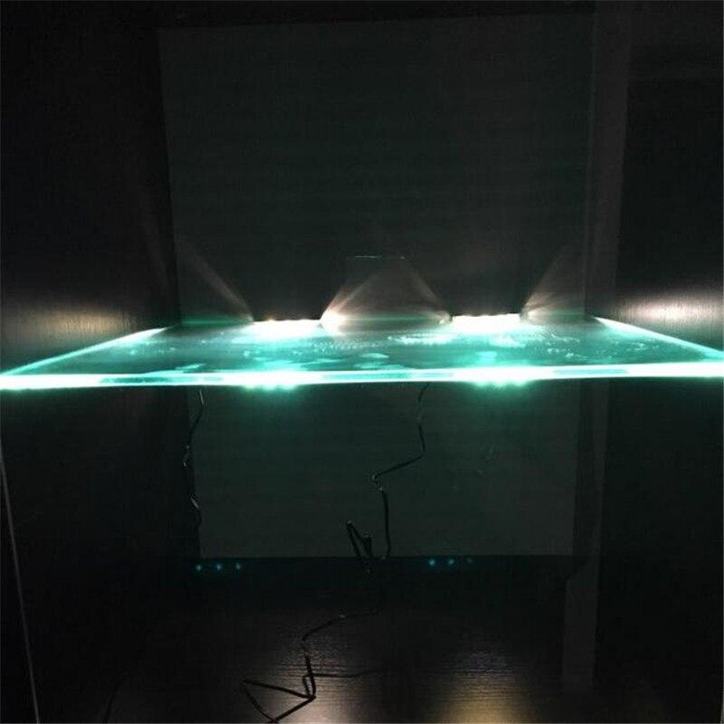 led onder kast led verlichting voor glas rand plank terug side clip klem strip verlichting 6