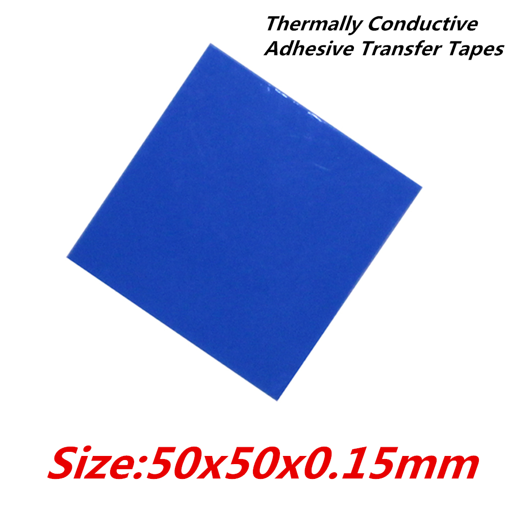 30pcs/lot  50x50mm Thermally Conductive Adhesive Transfer Tapes thermal pad double sided tape for heatsink  radiator 20pcs lot aluminum heatsink 14 14 6mm electronic chip radiator cooler w thermal double sided adhesive tape for ic 3d printer