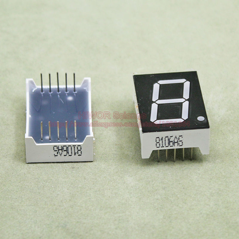 (10pcs/lot) 10 Pins 8011AR 0.8 Inch 1 Bit Digit 7 Segment Red LED Display Share Common Cathode Digital Display