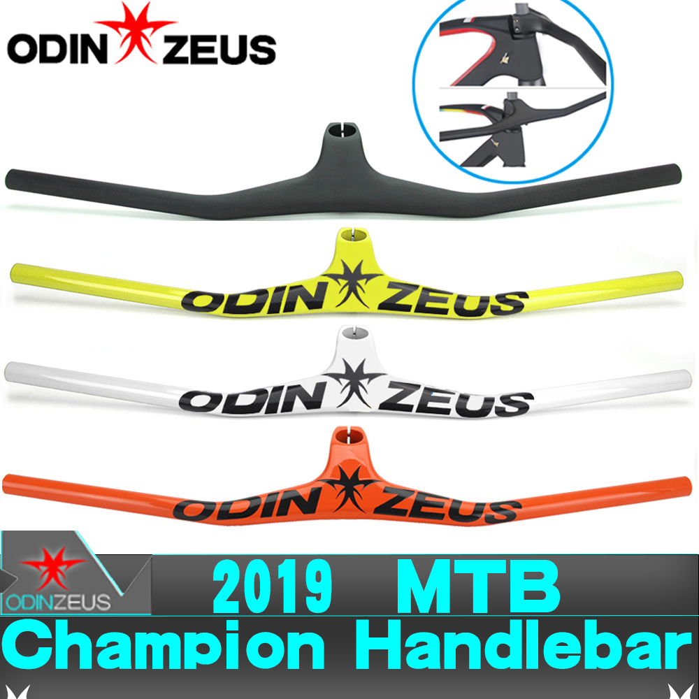ODINZEUS 2019 Manillar Carbon MTB Bicycle Riser One-shaped Integrated Handlebar With Stem 3K Black Gloss/Matte Carbon HandlebarODINZEUS 2019 Manillar Carbon MTB Bicycle Riser One-shaped Integrated Handlebar With Stem 3K Black Gloss/Matte Carbon Handlebar