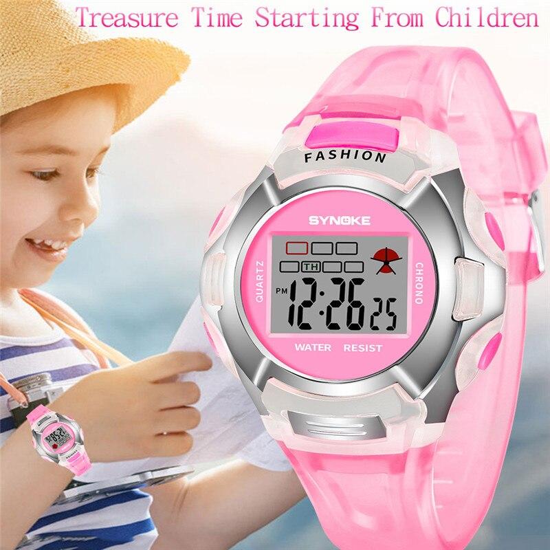 Children Boys Student Waterproof Sports Watch LED Digital Date Wristwatch Wrist Watches For Children Montre Garcon Clock
