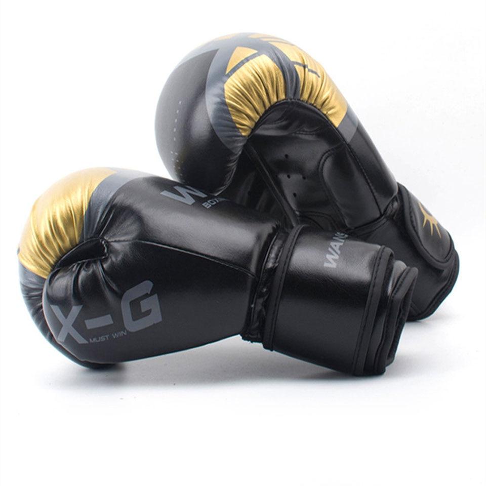Alta qualidade adultos mulheres/homens luvas de boxe couro mma muay thai boxe de luva luvas sanda equipments8 10 12 6 oz 3