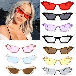 خمر النظارات الشمسية الصغيرة القط العين النظارات الشمسية 2019 مثير الصيف الأحمر نظارات شمسية ل الإناث العلامة التجارية مصمم نظارات UV400