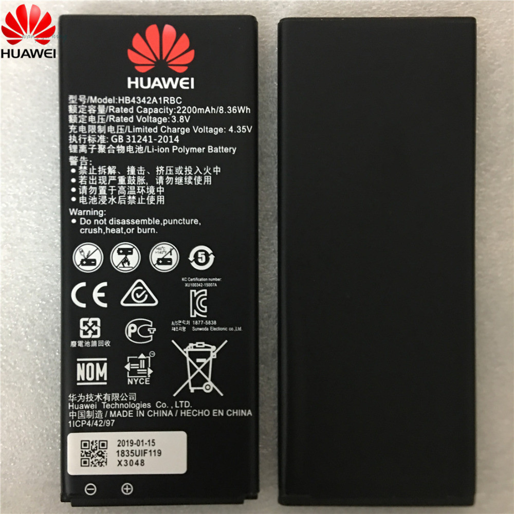 Huawei 100%Original HB4342A1RBC Battery For Ce 5A Y6 SCL-TL00 CUN-U29 4A Ascend-5 Ascend-5