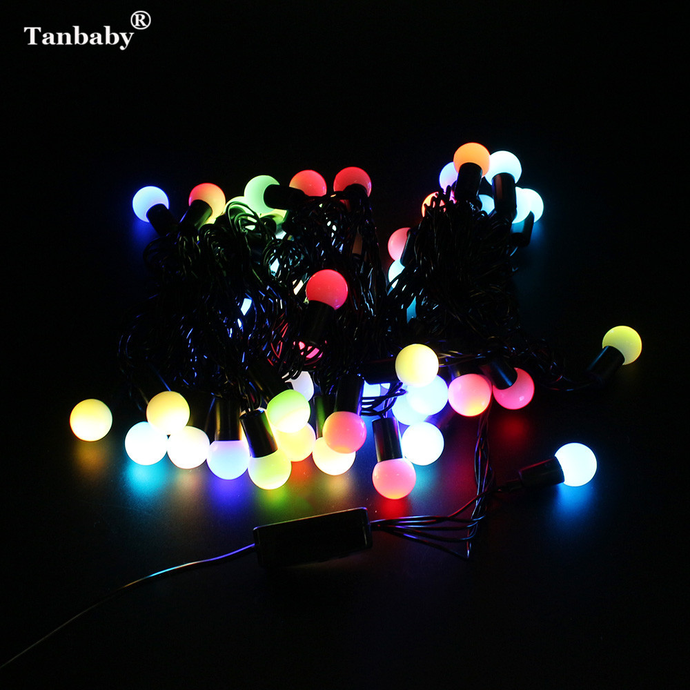 Tanbaby Waterproof Globe Starry Fairy String Lights 5M 50 LED Outdoor Decoration Light For Garden Party Wedding Christmas Xmas