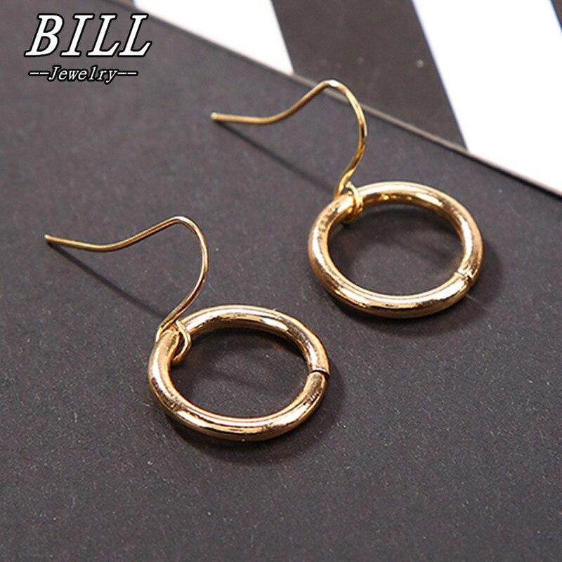 ES2073 Simple Drop Earrings For Women Minimalist Punk Circle Dangle Earring Brincos Geometric Bijoux Pendientes Mujer Cheap 2018