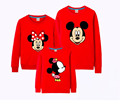 New family matching clothing cotton cartoon long sleeve hoodies mother daughter t-shirt