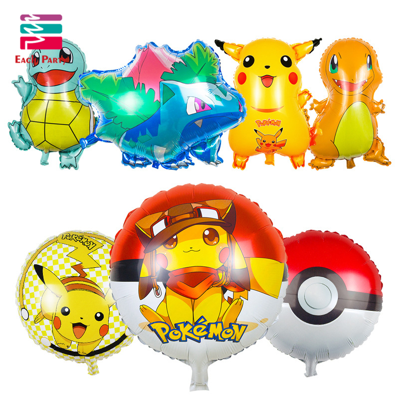 News Cartoon Pikachu Pokemon Go Foil Balloons Helium Ballons Children Inflatable