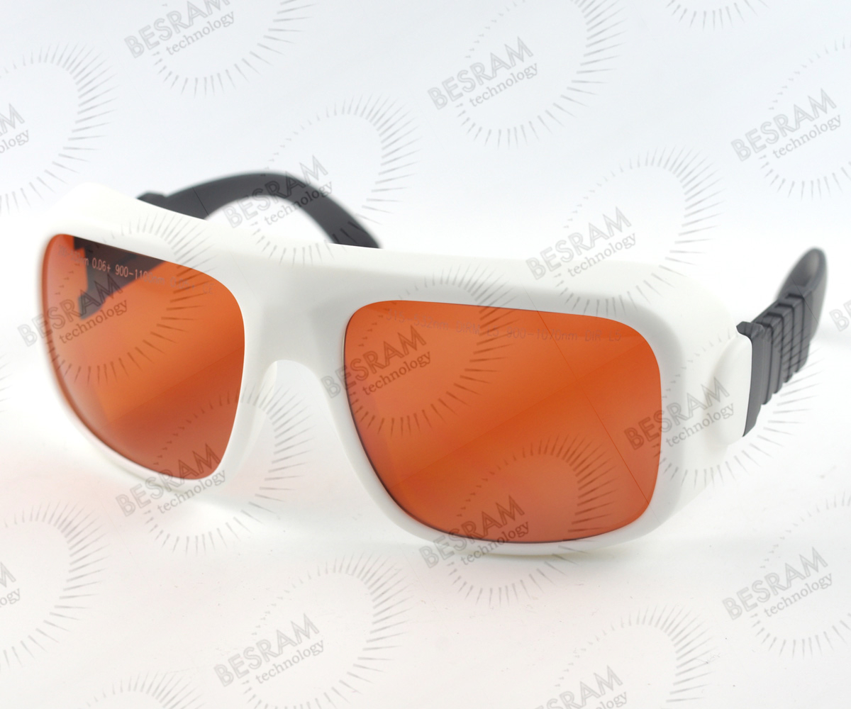 200nm-532nm OD6+ 900n-1100nm OD5+ Laser Protective Goggles Safety Glasses 36#