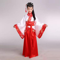 Fille antique Chinois traditionnel costume national Hanfu rouge robe princesse enfants hanfu robes cosplay vêtements filles enfants