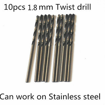 10pcs 1.8mm Twist Drill FANGDAWANG High Quality 9341 Roll Forged Straight Shank HSS Drill Bits For Stainless Steel
