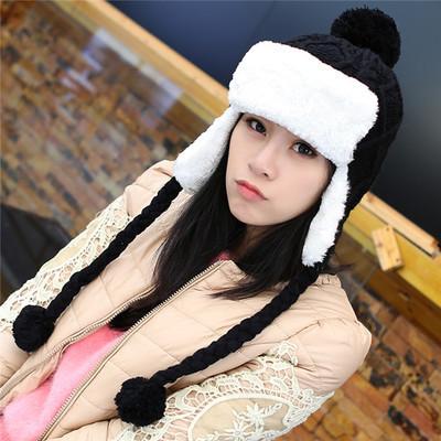 Antunm invierno más señoras de lana de punto bombardero sombreros para mujer de color rosa dulce de lana gorras de ganchillo amarillo chica sombrero de fiesta regalo envío gratis