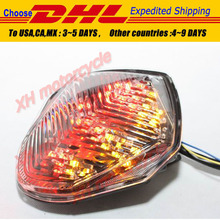motorcycle partsLED Tail Brake Light turn signals for GSX-R GSXR1000 2003 2004 clear