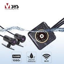 SYS VSYS полный корпус водостойкий мотоцикл камера рекордер P6FL WiFi двойной 1080 P Full HD мотоцикл dvr Dash Cam черный коробка gps