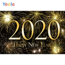 цены Yeele New Year Fireworks Family Party Customized Photography Backdrops Personalized Photographic Backgrounds For Photo Studio