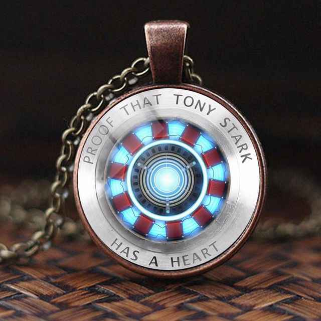 Hot Avengers Iron Man Tony Stark Necklace Marvel Avengers 4 Endgame Quantum Realm Series Necklace Figure Yoys Gift for Kids