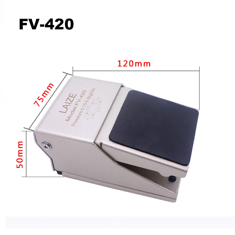 Image 3 - High Quality FV320 Air Pneumatic Foot Pedal Valve Switch FV 320 FV 420 Manual Valve with Fittings Foot Pressure Control FV420-in Pneumatic Parts from Home Improvement