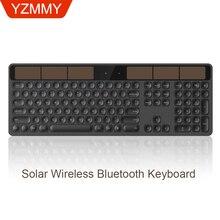 ультра-тонкая солнечная зарядка/перезаряжаемая 2,4G Беспроводная Настольная компьютерная клавиатура для ноутбука вогнутые и бесш компьютерная клавиатура 1