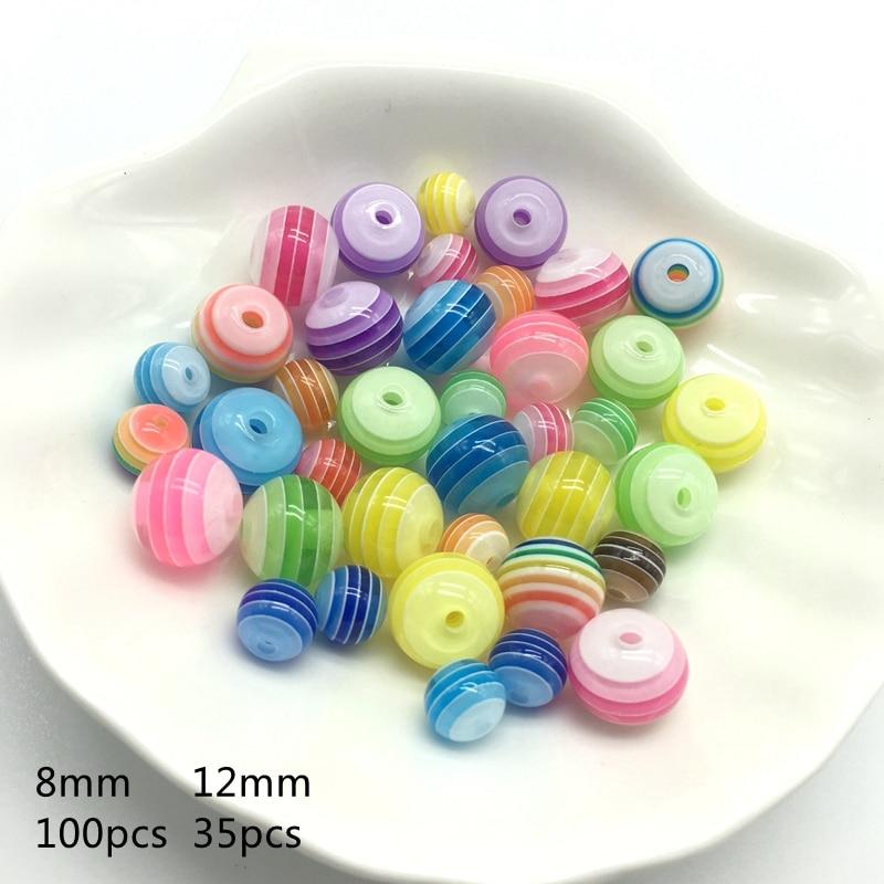 Acrylharz-Kreisregenbogen-Streifen bördelt Halskettenzusätze der - Modeschmuck - Foto 2
