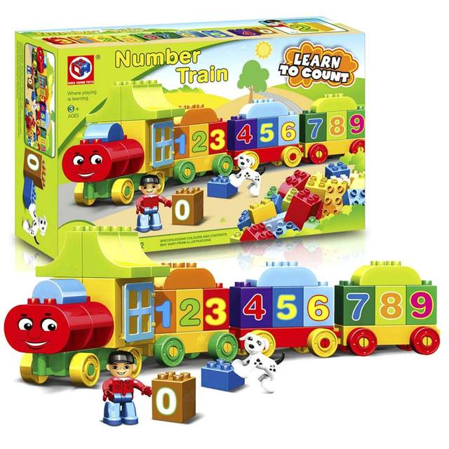 Learning Education Toys For Children 3d puzzle Digital Jigsaw Number Train Crafts For Kids With Original Box