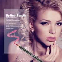 12 teile/satz Holz Make-Up Matte Lip Bleistift Wasserdicht Langlebige Matte Lip Contour Liner Bleistift für Frauen