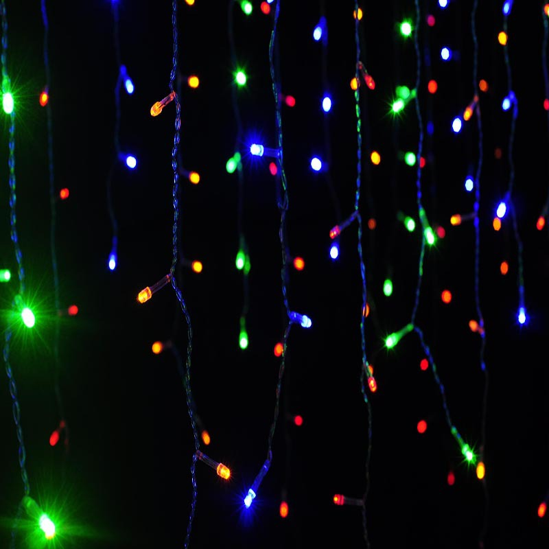 connectable 4M 96leds curtain icicle string light led fairy lights christmas lights outdoor ...