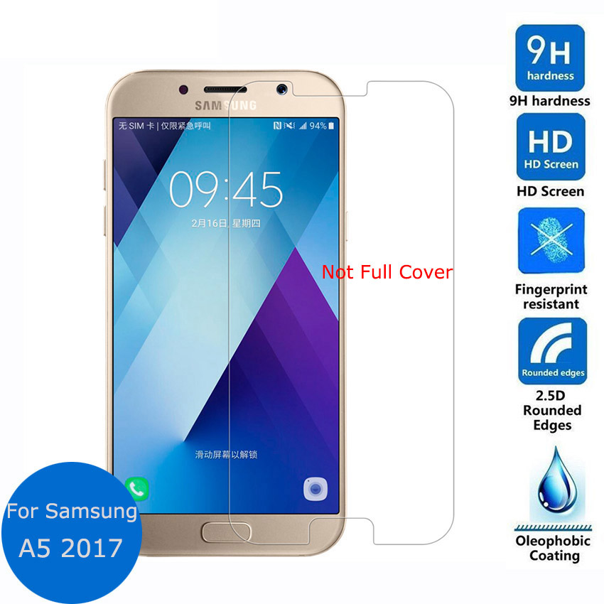 Not Full Cover For <font><b>Samsung</b></font> Galaxy A5 2017 7 A520F <font><b>A520</b></font> Tempered <font><b>Glass</b></font> Screen Protector 9H 2.5D Safety Protective Film <font><b>Glass</b></font> Film image