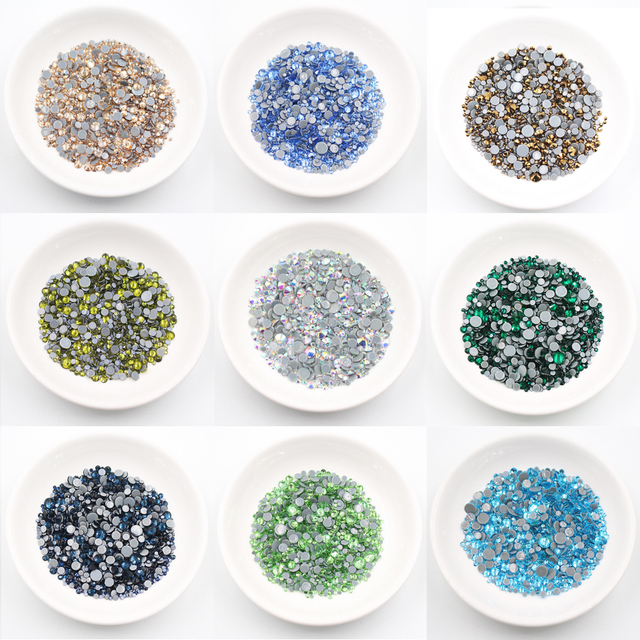 New Mix Size Stones 1000pcs Glitter Crystals Glass Flatback Hot-fix Glue  Rhinestone DIY Crafts Strass Rhinestones For Clothes ca1f23860bb3
