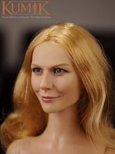 Lovely Girl Female 1/6 Head Sculpts Europe Long Golden Curls Woman Head Craving Model Doll Toys For 12″  Action Figure Accessory