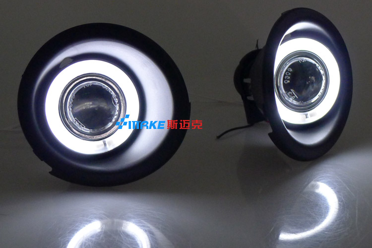 цена на LED DRL daytime running light CCFL angel eye, projector lens fog lamp with cover for chevrolet captiva 2010-12, 2 pcs