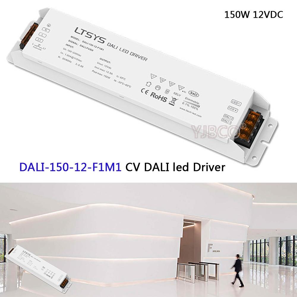 LTECH 150W 12VDC CV DALI Driver;DALI-150-12-F1M1;AC100-240V input;DC12V 12.5A 150W output;DALI/Push DALI Led Dimming Driver dali 16 1 11в