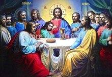 5D DIY Diamant-stickerei Religion Der Letzte Abendmahl platz Diamant Malerei Kreuzstich Kinder Diamant Mosaik Dekoration