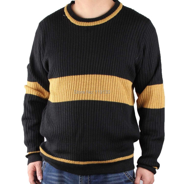 Harry Potter Quidditch Hogwarts Hufflepuff Striped Sweater Jersey