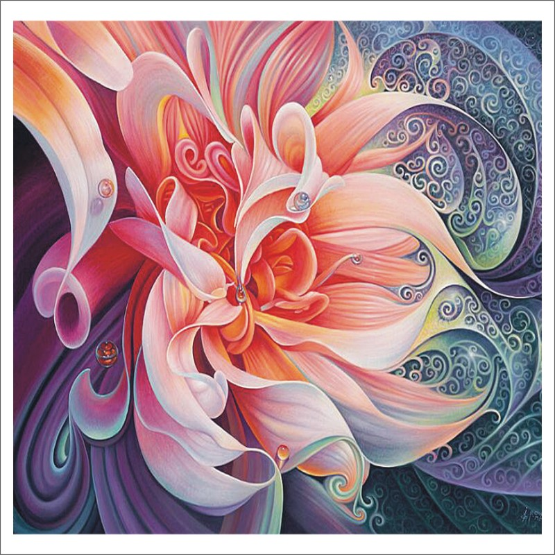 Full 5D DIY Diamond Painting Flower Embroidery Cross Stitch 5D Home Decoration Gift Crafts T002