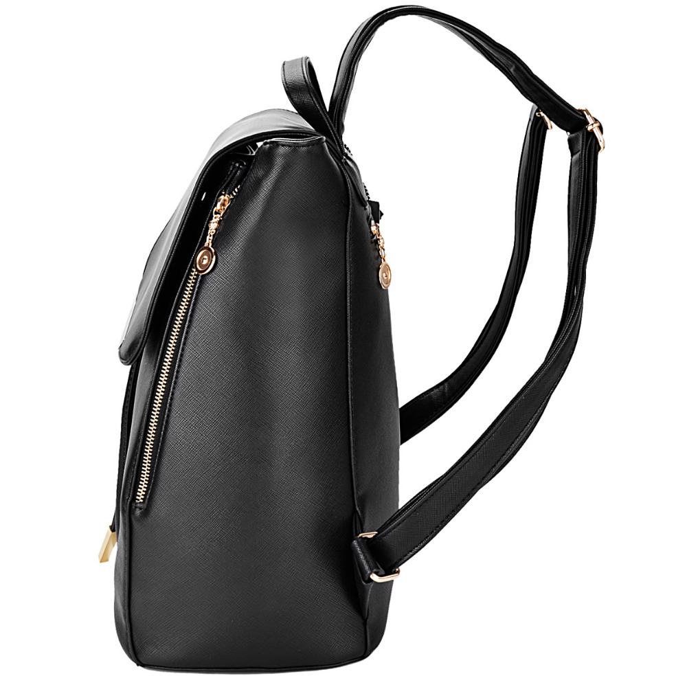 Coofit Ladies PU Leather Backpacks Preppy Style Drawstring School Bags For  College Girls Buckle Flap Cover Woman Backpack Purses-in Backpacks from  Luggage ... 4c7d02edb1b58
