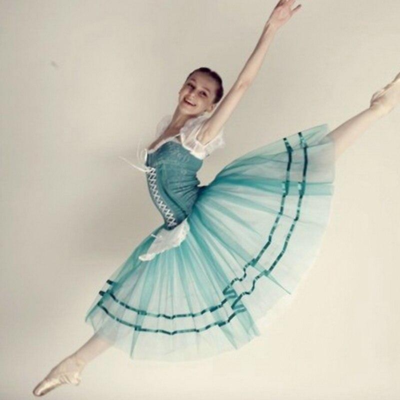 Индивидуальный заказ Жизель балетные костюмы пачки зеленый балерина платье, взрослых или детей Романтический Длинные балетные костюмы