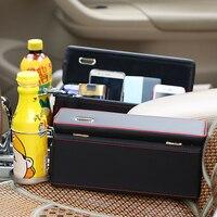נקיק מושב ארגונית מיכל סטיילינג רכב אוניברסלי עם משקה בעל מטבע קופסא לאחסון אבזרים לרכב רכב עור PU