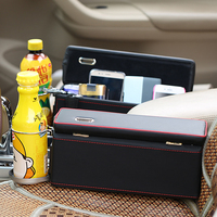 Universal Container Car Styling Car Seat Crevice Organizer With Drink Coin Holder PU Leather Car Storage
