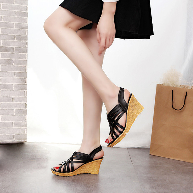 Women High Platforms Cut Outs Casual Shoe