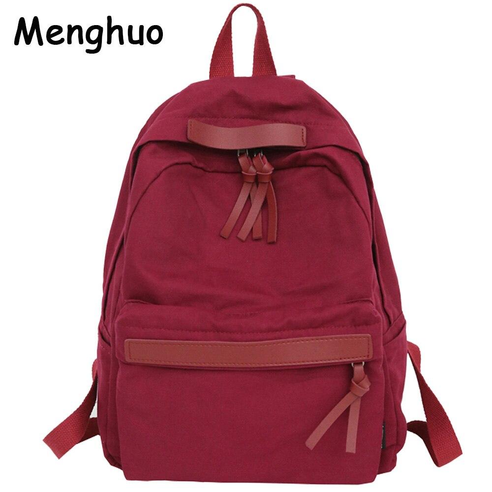 a752805fd9fe Menghuo высокое качество Для женщин холст подростковый рюкзак для девочек  рюкзака для отдыха Винтаж стильная женская