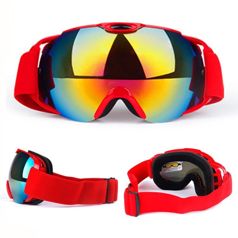 Lunettes de Ski Anti-buée HD lunettes de neige hommes femmes revêtements de Ski Anti-UV planche à roulettes Snowboard Ski lunettes de soleil Sport d'hiver en plein air