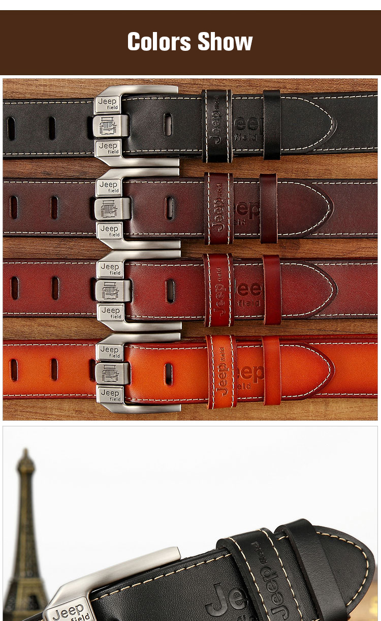 (9)Designer men's belts for men belt genuine leather High quality famous brand Pin Buckle Strap Luxury Male Belts Man Belt Jeans