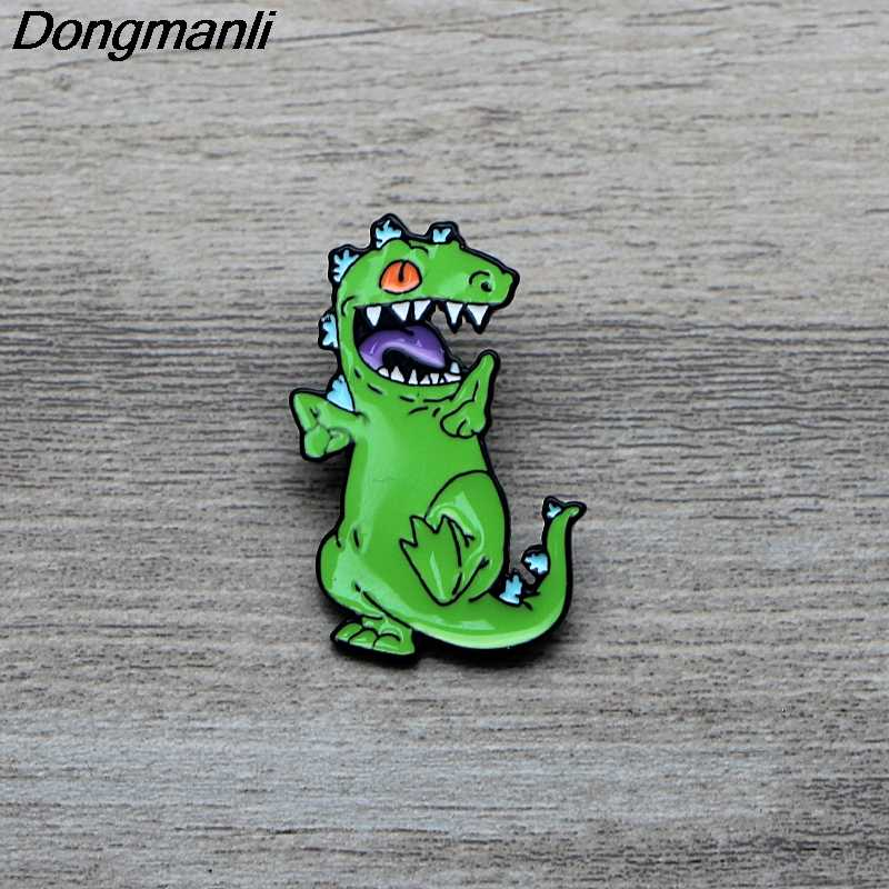 L3555 Anime Figura Dinosauro Dello Smalto Spille Spille Del Fumetto Creativo Spilla In Metallo Spilli Denim Cappello Distintivo Del Collare Dei Monili 1pcs